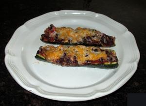 Grilled Chili-stuffed zucchini by Lisa L.