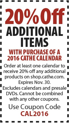 2016 Cathe Calendar Discount Coupon Offer