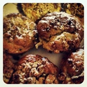 Peach Cobbler Gluten-free Muffins