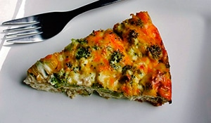 Breakfast for Dinner Crustless Quiche by JenTrudel
