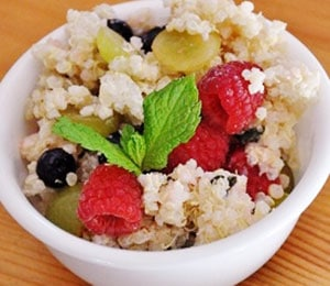 SPRING QUINOA MINT FRUIT SALAD by JenTrudel