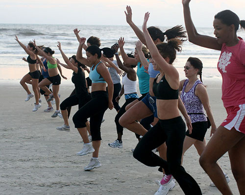 Cathe Boot Camp on the Beach