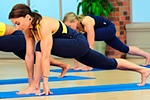 Cathe Friedrich's yoga and stretch workout and exercise DVDs