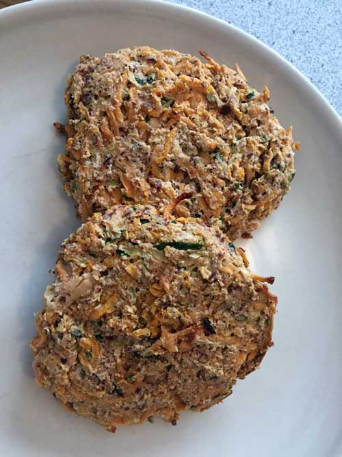 Sweet Potato and Zucchini Patties