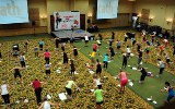 Aerial Shot of Total Body Sculpt Class