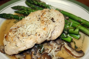 Chicken With Asparagus And Mushrooms