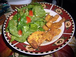 Oven Fried Catfish Nuggets