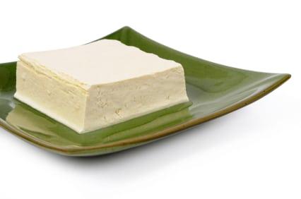 Block of fresh Tofu