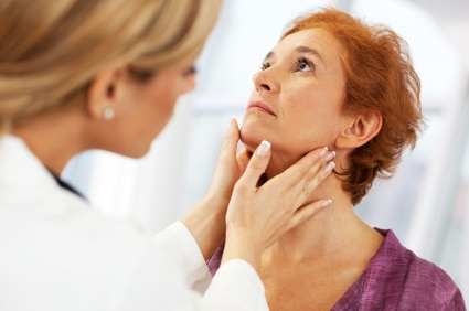 thyroid check for a woman having a problem controlling her weight