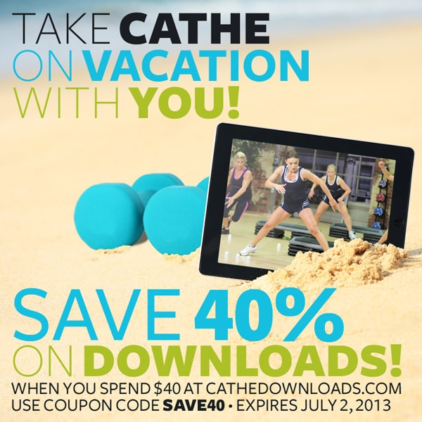 Summer Sale - Save 40% on Cathe Downloads