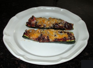 Grilled Chili-stuffed zucchini by Lisa L.