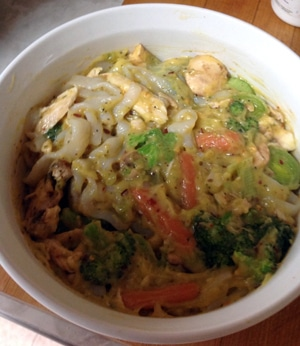 Broccoli Carrot Chicken Fettuccine