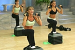 Cathe Friedrich's High Step workout Exercise DVDs