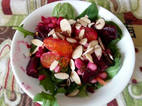 Orange-Beet-Bean Salad
