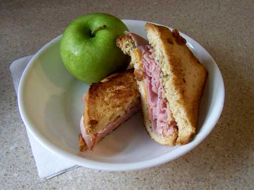 Grilled Ham Panini with Avocado Spread
