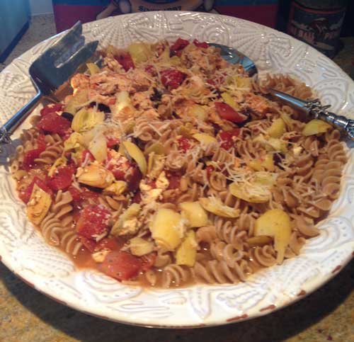 Mediterranean Balsamic Chicken & Pasta