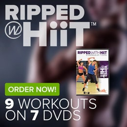 Order Cathe's Ripped With HiiT workout DVDs