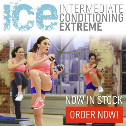 Ad for Cathe's ICE Workout Series