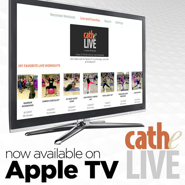 Cathe Live is Now on Apple TV