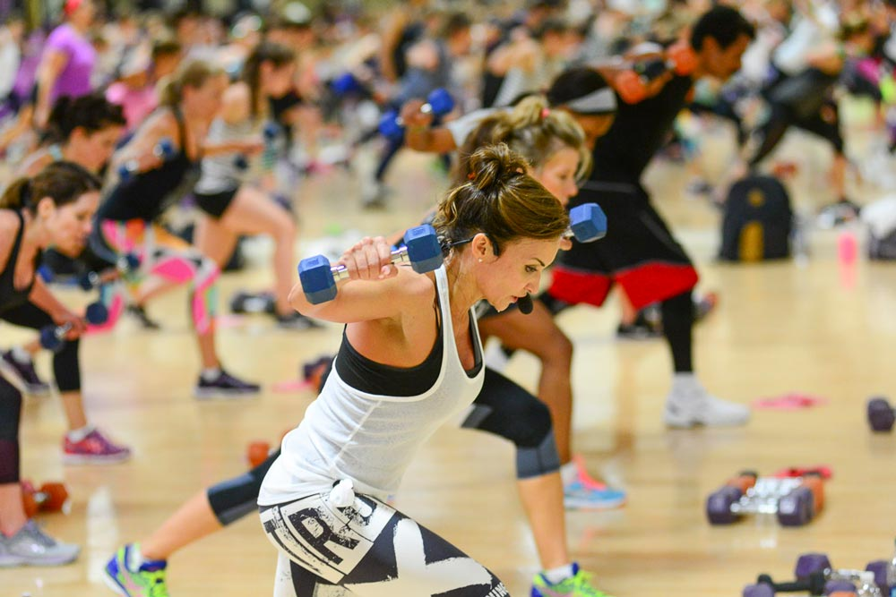 Cathe Friedrich leads an exercise class at her Gym in New Jersey, Four Seasons Fitness. You might wonder whether weight training is good or harmful for your joints, especially if you have arthritis? Here's what research shows.