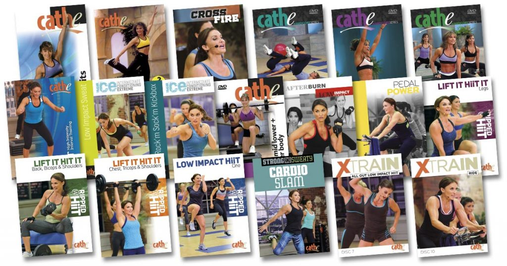 image of videos used in Cathe's September 2017 workout video rotation