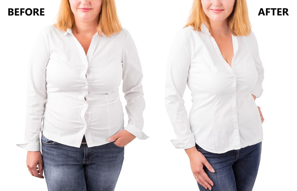 Before and After picture of a woman who has successfully lost weight. But what about maintaining weight loss after you lose the weight?