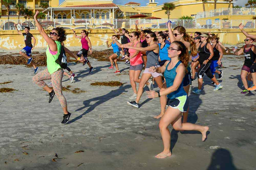 image of Cathletes keep working out fun during the Daytona Beach Cathe 2017 Road Trip