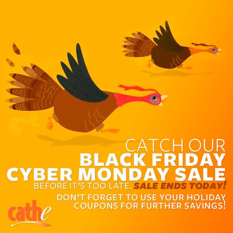 image saying our Black Friday cyber Monday sale ends Today