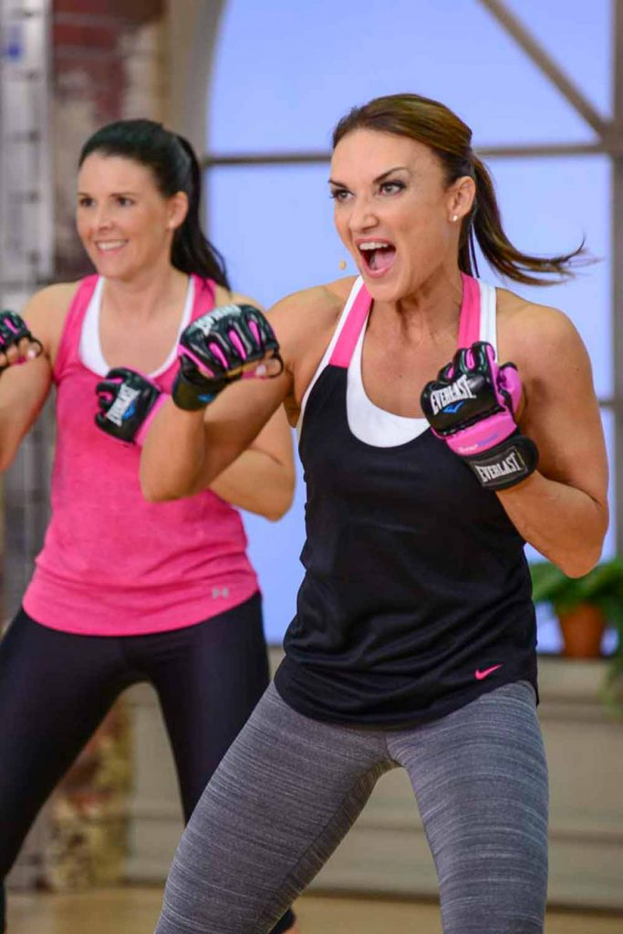 image of Cathe and Jen in Fit Split Boxing Bootcamp