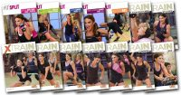 image of video covers for the workouts used in the Fit Split XTrain 60 Day workout Rotation.