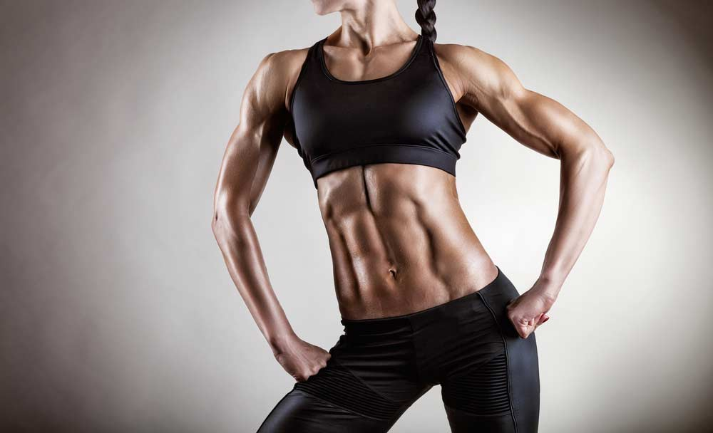 image of a very fit young woman with Youthful Muscle tone and low body fat