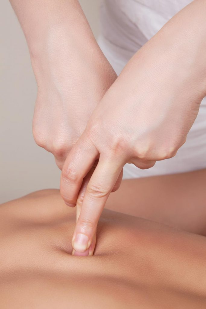 image of a person receiving trigger point therapy