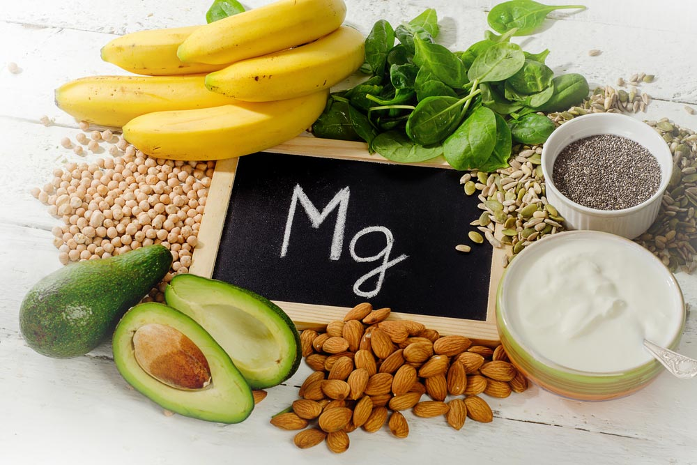 image of healthy foods containing magnesium