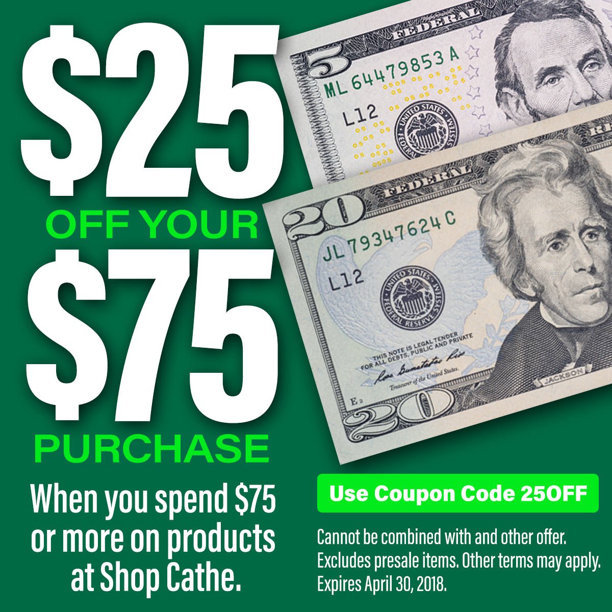 image of $25 Off Coupon