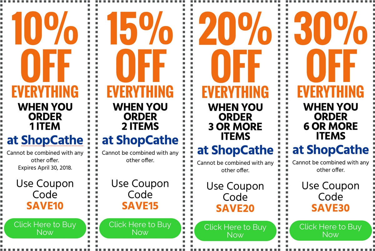 image of Cathe April 2018 coupons
