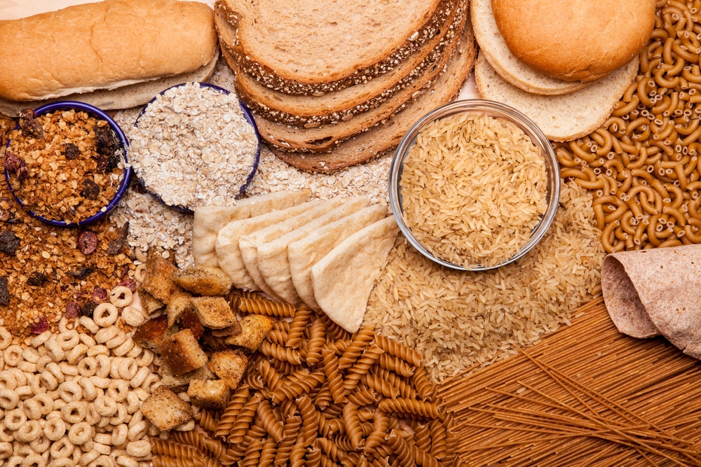 Display of whole grains and whole grain products