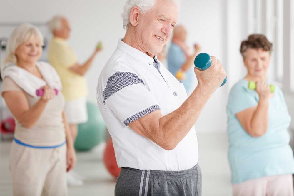 The negative health effects of lack of exercise may be more pronounced for elderly people.