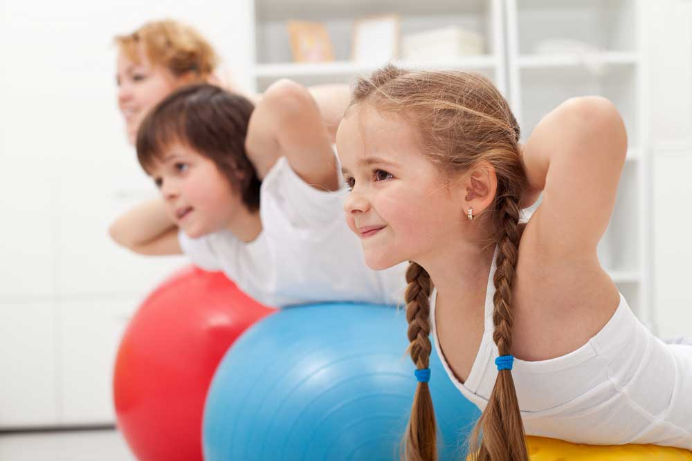 How does the physical fitness of kids today compare to kids 20 years ago?