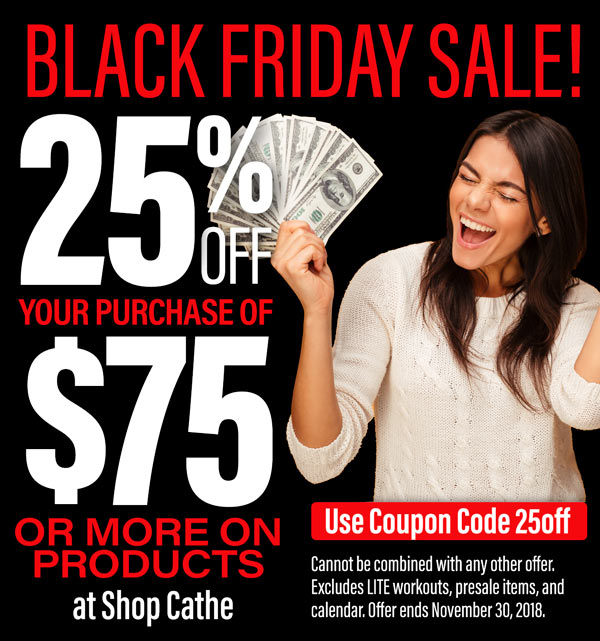 Save 25 percent Black Friday coupon
