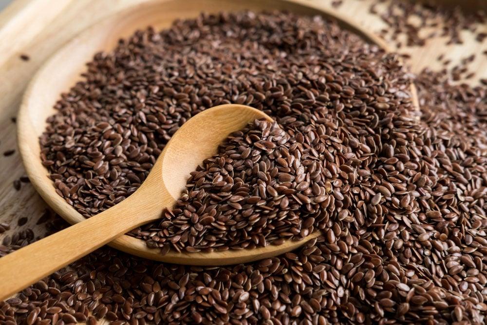 Healthy foods like flaxseed