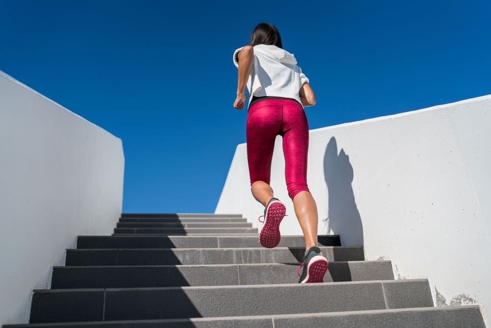 Running Stairs is a great exercise for glutes
