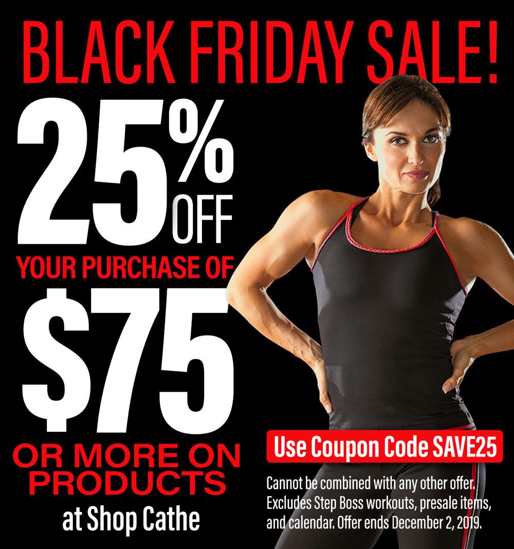 Cathe's Black Friday Cyber Monday Sale