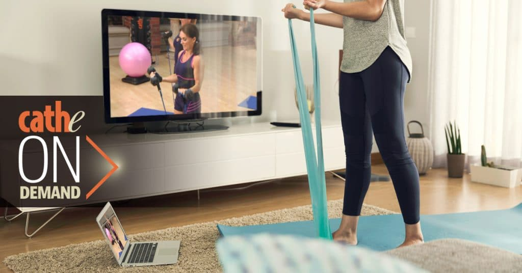 Online workout videos at home