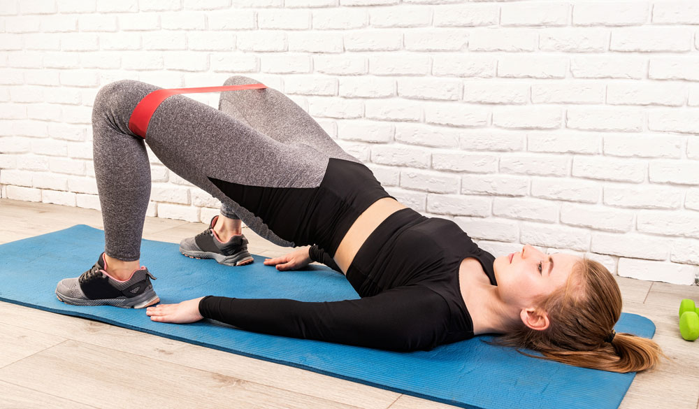 Glute bridges for better posture
