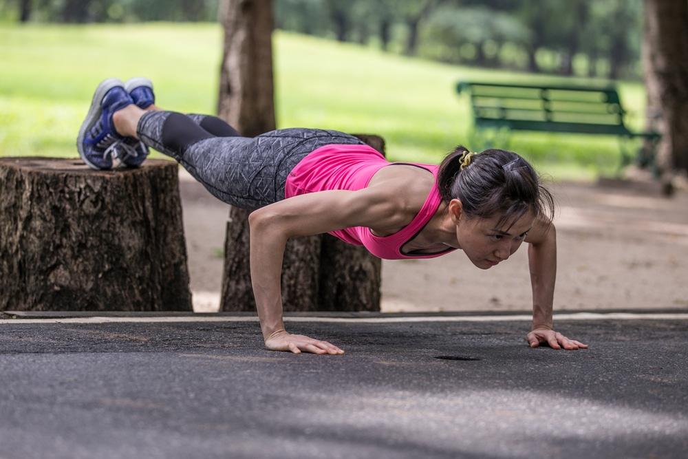 Decline push-ups work your shoulders