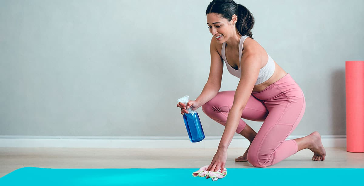 Keeping your Yoga Mat clean